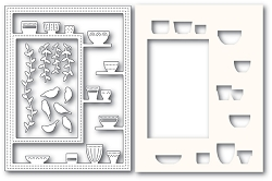 Poppy Stamps - Die - Greenhouse Potted Plants Sidekick Frame and Stencil