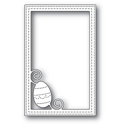 Poppy Stamps - Die - Decorated Egg Stitched Frame