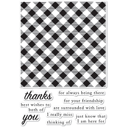 Poppystamps - Picnic Plaid clear stamp set
