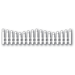PoppyStamps - Die - Wavy Long Picket Fence
