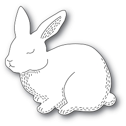 PoppyStamps - Die - Whittle Cutie Rabbit