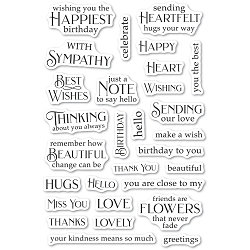 PoppyStamps - Greeting Basics clear stamp set