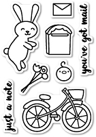 PoppyStamps - Clear Stamp Set - Mail Delivery clear stamp set
