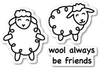 PoppyStamps - Clear Stamp Set - Wool Be Friends clear stamp set