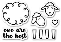 PoppyStamps - Clear Stamp Set - Ewe Are the Best clear stamp set