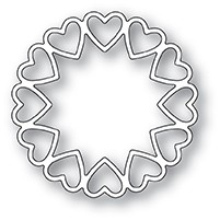 Poppy Stamps - Die - Fancy Heart Ring