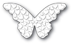 Poppy Stamps - Die - Embossed Heart Butterfly