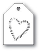 Poppy Stamps - Die - Embossed Heart Taglet