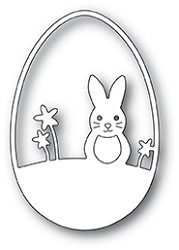 Poppy Stamps - Die - Easter Bunny Egg