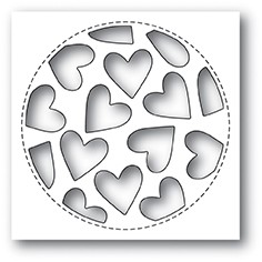 Poppy Stamps - Die - Tumbled Heart Collage