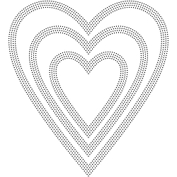 Poppy Stamps - Die - Pinpoint Hearts