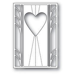 Poppy Stamps - Die - Deco Marquis Heart