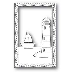 Poppy Stamps - Die - Lighthouse Frame