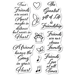 Poppy Stamps - Clear Stamp - Love and Friendship