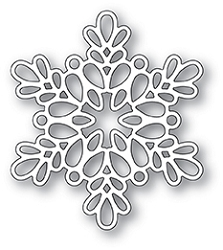 Poppy Stamps - Die - Seed Snowflake Outline