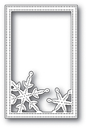 Poppy Stamps - Die - Simple Pinpoint Snowflake Frame