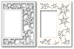 Poppy Stamps - Die - Pinpoint Snowflake Sidekick Frame