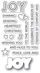Poppy Stamps - Clear Stamp Set - Tidings of Joy clear stamp set (with die)