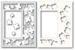 PoppyStamps - Die - Summer Blossoms Sidekick Frame and Stencil