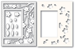 PoppyStamps - Die - Blooming Branches Sidekick Frame and Stencil