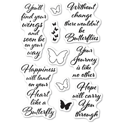 Poppystamps - Butterfly Greetings clear stamp set