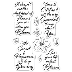 Poppystamps - Blooming Greetings clear stamp set