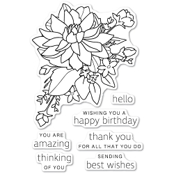 Poppystamps - Peony Bouquet clear stamp set