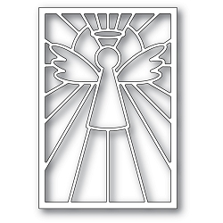 PoppyStamps - Die - Stained Glass Angel