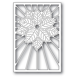 PoppyStamps - Die - Stained Glass Poinsettia