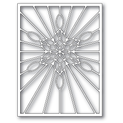 PoppyStamps - Die - Stained Glass Snowflake Window