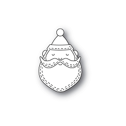 PoppyStamps - Die - Whittle Santa Face