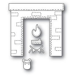 PoppyStamps - Die - Whittle Fireplace
