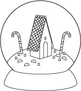 Poppy Stamps - Cling Mounted Rubber Stamp - Candy House Globe