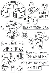 Poppy Stamps - Clear Stamp Set - Wintertime Fairies clear stamp set