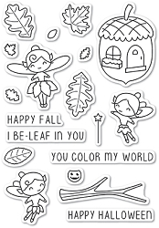 Poppy Stamps - Clear Stamp Set - Autumn Fairies clear stamp set