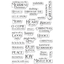 PoppyStamps - Christmas Greetings clear stamp set