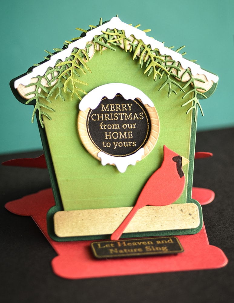 PoppyStamps - Christmas Quotes clear stamp and die set
