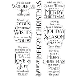 PoppyStamps - Joyous Christmas Wishes clear stamp set
