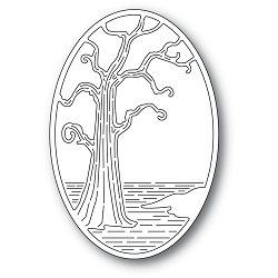 PoppyStamps - Die - Twisted Tree Oval