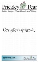 Prickley Pear - Cling Stamp - Congratulations 2