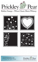 Prickley Pear - Cling Stamp - Love Squares