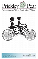 Prickley Pear - Cling Stamp - Bicycle Built for Two