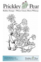 Prickley Pear - Cling Stamp - Daisies in Boot