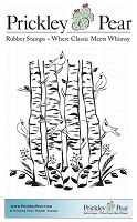 Prickley Pear - Cling Stamp - Cardinals and Birch Trees
