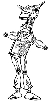 Prickley Pear - Cling Rubber Stamp - Steampunk Tinman
