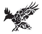 Prickley Pear - Cling Stamp - Flourished Raven, Sm
