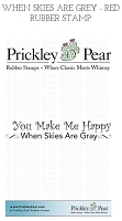 Prickley Pear - Cling Stamp - When Skies are Grey