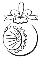 Prickley Pear - Cling Stamp - German Ornament