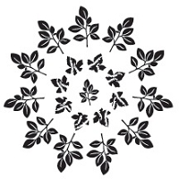 Prickley Pear - Cling Stamp - Maple Leaf Doily