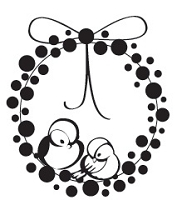 Prickley Pear - Cling Stamp - Bluebird Wreath